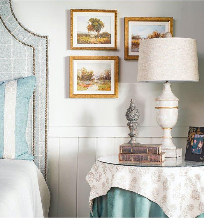 Erin Gilmer Interiors bedside table design