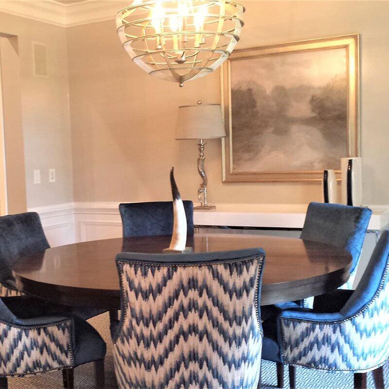 Chimney Stone Meeting Area Interior Design Set Up