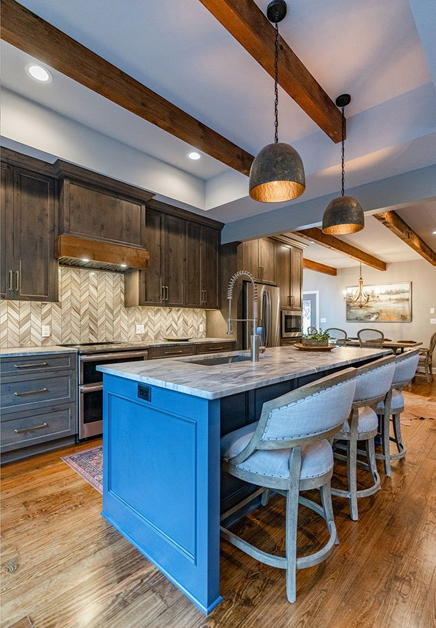 Shoal Creek Farms Island Area interior design
