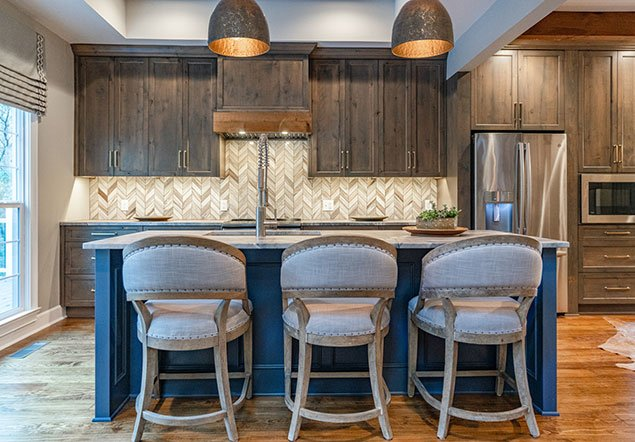 Shoal Creek Farms Kitchen and Center Island Interior Design