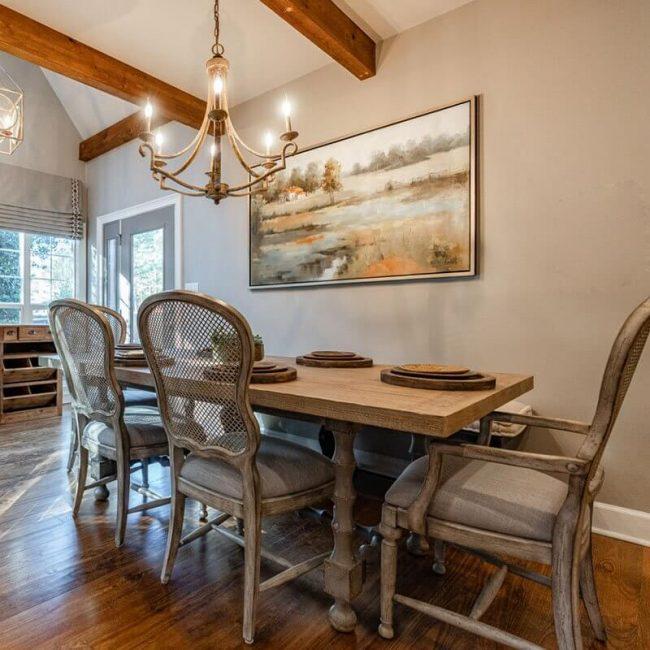 Shoal Creek Farms Dining Area Set up for interior design