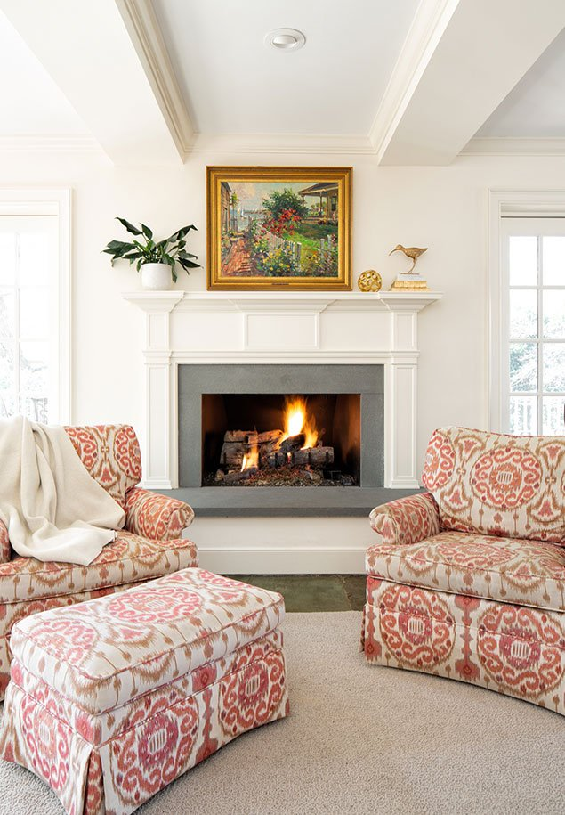 Three Chopt Road Fireplace and Living Area interior design