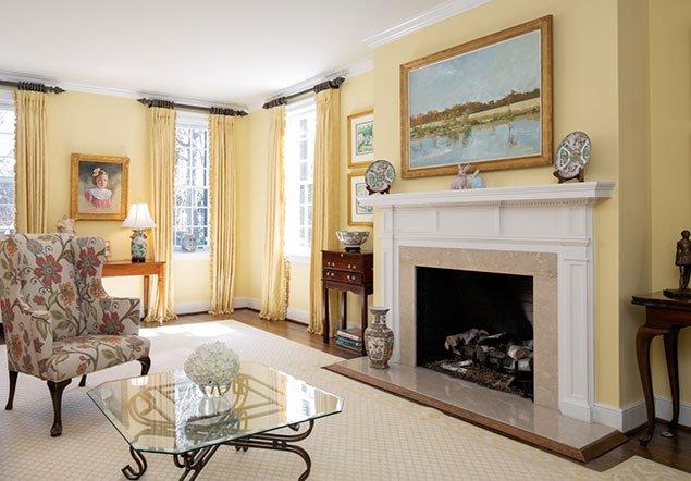 Three Chopt Road family room area interior design